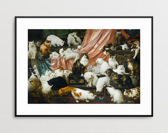 My Wife's Lovers - Carl Kahler - Cat Art - Cat Print -  Cat Lover - Gift - Cat Painting - Cat Wall Art - Giclee Print - Cat Decor - Cats