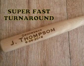 Ring Bearer Gift, Personalized Laser Engraved Baseball Bat Ring Security, RingBearer Gift Jr Groomsmen Gift, Birthday Favor Junior Groomsman