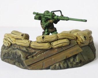 Sandbagged Bunker - 28mm resin, WH40K, Bolt Action, Dust Tactics