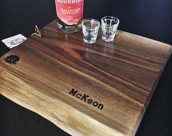 Black walnut personalized cuttingboard