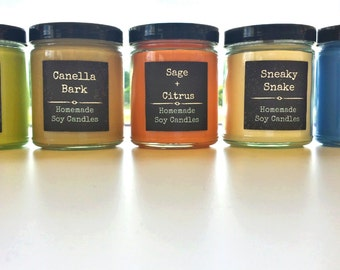 9oz Soy candle - NEW Scents!