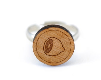 Lemon Ring, Wooden Ring, Gift For Him or Her, Wedding Gifts, Groomsman Gifts, and Personalized