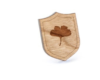 Ginkgo Leaf Lapel Pin, Wooden Pin, Wooden Lapel, Gift For Him or Her, Wedding Gifts, Groomsman Gifts, and Personalized