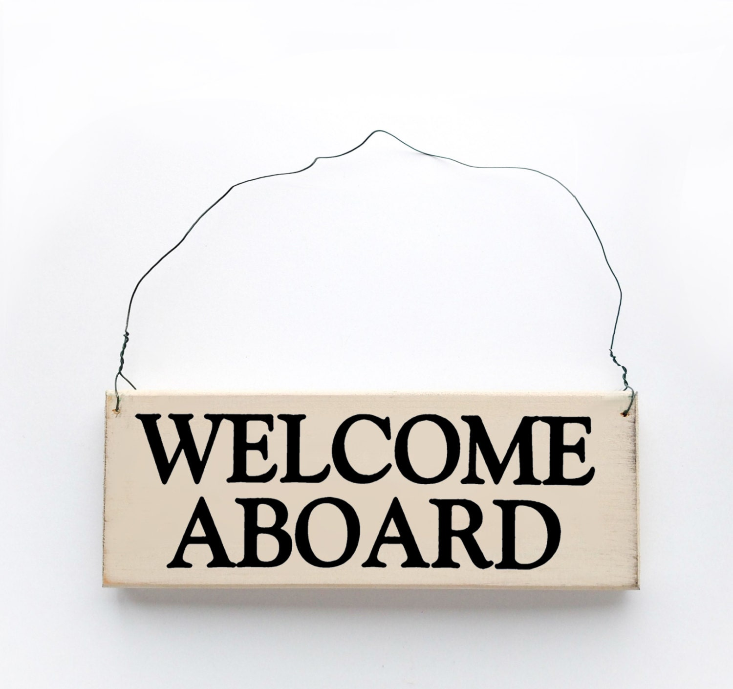 Wood sign saying welcome aboard Where did the saying knock on wood come from