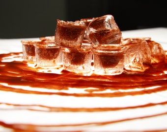 """Photographic print """"Ice, ice cubes and tomato"""" fine Art on matte photographic paper"""