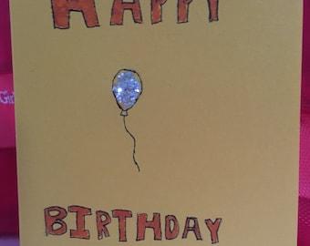Sparkly Balloon Birthday Card