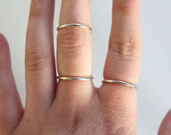 Minimal Sterling Silver Stacking Ring | MADE TO ORDER