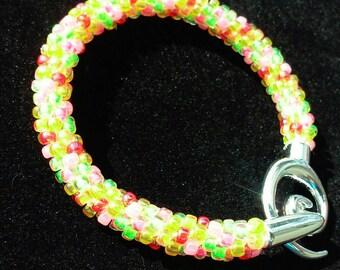 Rock candy Kumihimo bracelet
