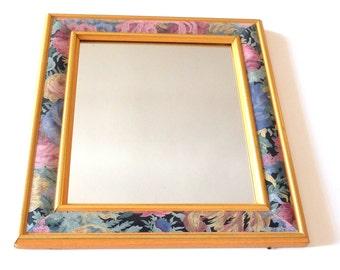 Vintage mirror, golden,  made in France
