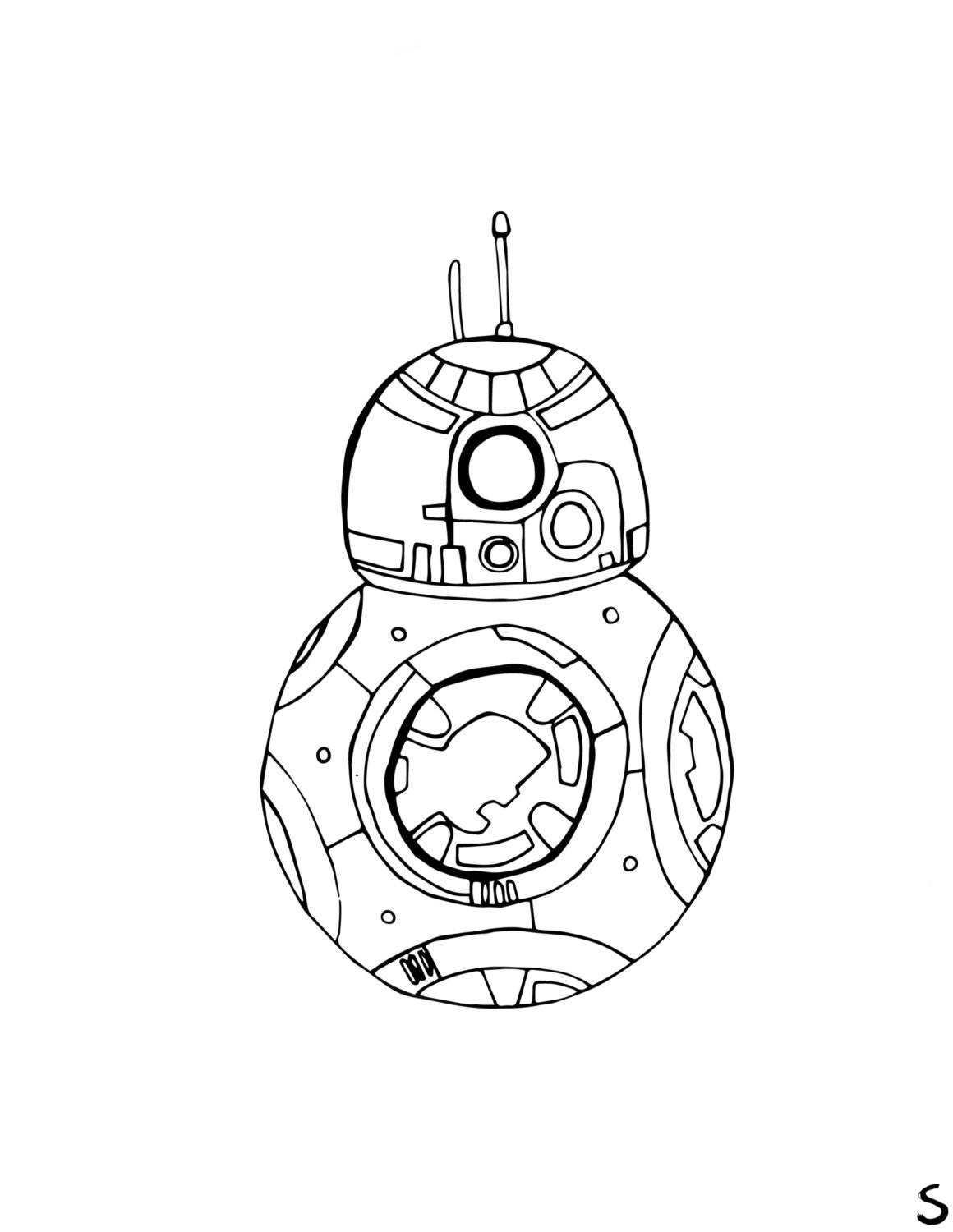 Bb8 pages coloring pages for Bb8 coloring page