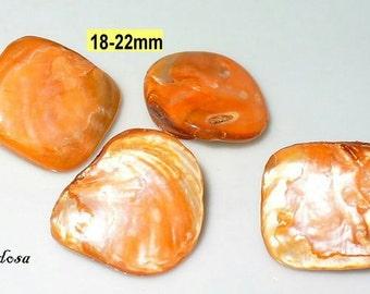 4 Pearl nuggets 18-22mm orange (K912. 3)