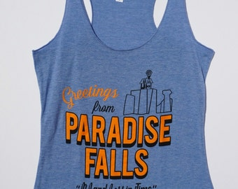 Paradise Falls Racer Back Tank