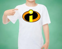 INSTANT Download Disney The Incredibles Logo Printable Iron on Transfer Design