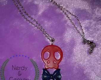 Skull & Bow Necklace