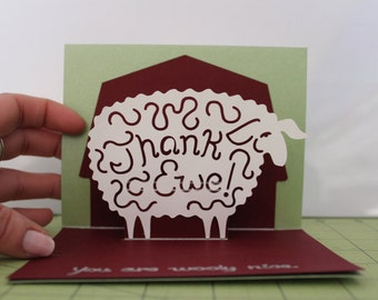 Thank Ewe (you) Card