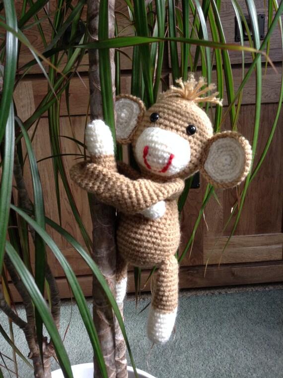 Crochet amigurumi monkey room decoration by NameMeCrochetie