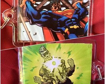 Handmade DC Superman Keychain