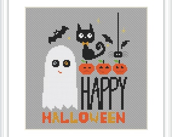 Halloween cross stitch pattern PDF Instant download X162
