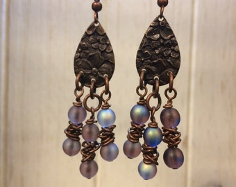 "Steampunk Jewelry: Earrings - ""Summer Evening"""