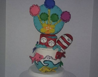 Dr.Suess  inspired cake topper