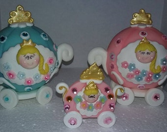 Cinderella Carriage ispired cake toppers /cupcakes decorations