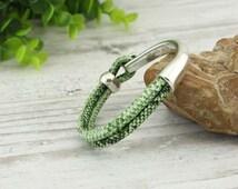 6 mm PU snake skin leather bracelet, mens bracelet, wrap bracelet, alloy bracelet, fashion bracelet, unisex bracelet, S 417