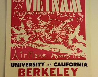 Rock  and roll Vietnam benefit dance poster