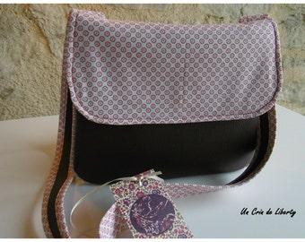 handbag, bag, small bag faux leather and cotton bag