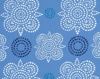 """25% Sale Ty Pennington  for Westminster Rowan  """"Impressions""""  Taj  Blue Cotton Sateen 55/56"""" Wide BTY"""