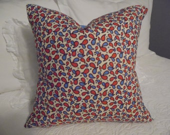Blue. Red. Paisley pillow cover,  Paisley pillow cover, pillow cover red, blue,black. Product ID# P0012