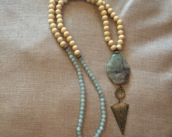 "The ""Mia"" Wood and Jade Necklace"