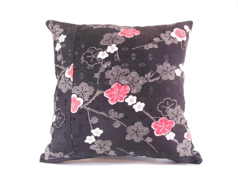 Japanese fabric pillow 529 decorative pillow 16x16 - Fabric for throw pillows ...