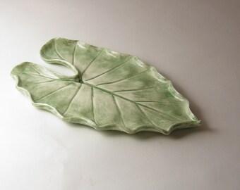 tropical leaf platter