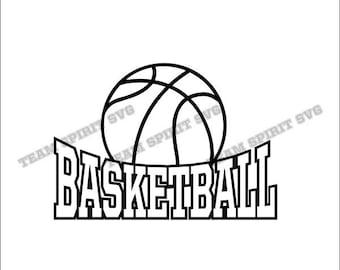 Basketball svg file, basketball vinyl cutting file, SVG ...