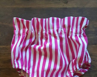 Pink stripe high waist bloomers,  bloomers
