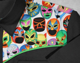 Lucha Libre, Luchador, Wrestling, Wrestling Mask, Western Shirt, Short or Long Sleeve, Small to 3XL