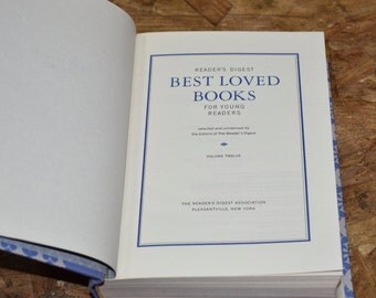 "Vintage ""Readers Digest Best Loved Books Vol. 12"" Antique Hardcover Book 1968"