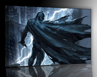 Batman Knight Oscurocm 50x70 print on canvas already framed and ready to hang
