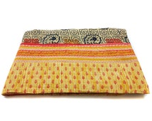 fine worl Kantha Quilt Indian Cotton Bedspread ,Bedding ,bed cover, twin size bedding