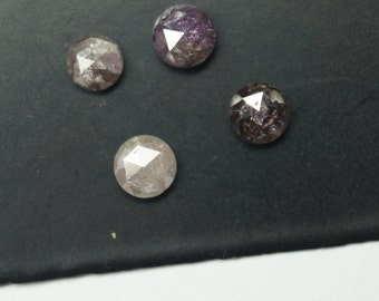 ON SALE 50% Pink Diamond, Rose Cut Diamond, Rose Cut Diamond Ring, Rose Cut Cabochon, Loose Diamonds, Raw Diamond, 4mm