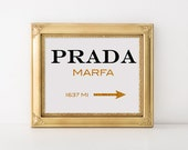 unique prada marfa related items etsy. Black Bedroom Furniture Sets. Home Design Ideas