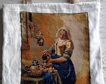 "Bag canvas ""the milkmaid"""