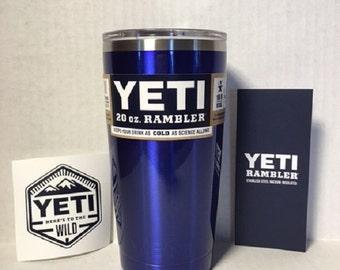 YETI rambler! BEAUTIFUL Intense Blue 20oz Yeti cup/tumbler/rambler BPA free.