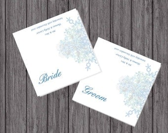 Winter Wedding Place Cards, Personalised