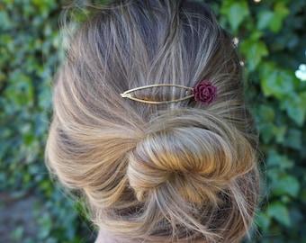 Wine Hair Pin (Set of 2)