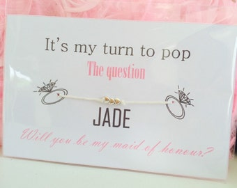 Novelty Bracelet - wedding, Will You Be My Bridesmaid/ Maid Of Honour/Flower Girl