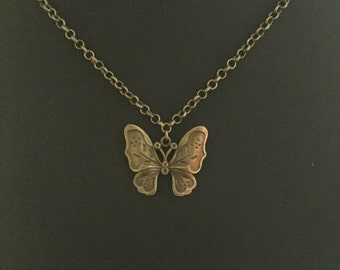 Simple Butterfly Pendant Necklace, Mix and Match Necklace