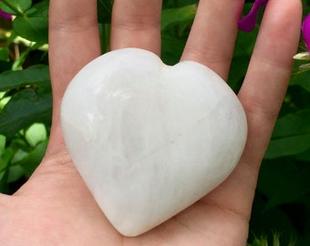 White Quartz Heart-Shaped Stone, Marbled White, The Yin of the Yang, Reiki, Metaphysical, Talisman ~ Free Shipping Included