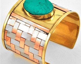 Turquoise Metal Bracelet