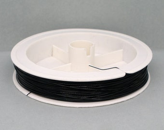 1  Roll 70M Black Tiger Tail Beading Wire Findings 0.38mm  x 70M